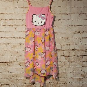 Hello Kitty girls high low dress size 7/8.